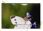 Butterfly - Cabbage White - As One Carry-all Pouch