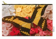 Butterfly And Buttons Carry-all Pouch