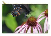 Butterfly And Coine Flower Carry-all Pouch