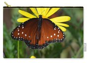Butterfly And Yellow Flowers Carry-all Pouch