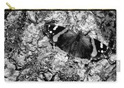 Butterfly Bark Black And White Carry-all Pouch