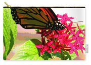 Butterfly Flowers Carry-all Pouch
