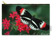 Butterfly Holiday Card Carry-all Pouch