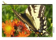 Butterfly On Orange Flowers Carry-all Pouch