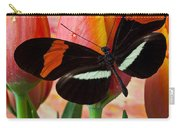 Butterfly On Orange Tulip Carry-all Pouch
