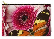 Butterfly On Pink Mum Carry-all Pouch