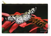 Butterfly On Red Carry-all Pouch