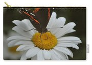 Butterfly On Shasta Daisy Carry-all Pouch