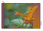 Butterfly Orange 16 By 20 Carry-all Pouch