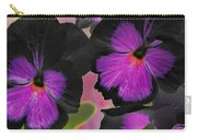 Butterfly Pansies Carry-all Pouch