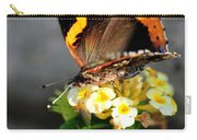 Butterfly Sipping Lantana Luscious Lemonade   Carry-all Pouch