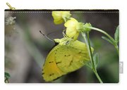 Butterfly - Yellow Sulphur On Yellow Carry-all Pouch