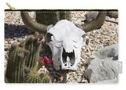 Cactus And Cow Skull Carry-all Pouch