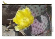 Cactus Flower 2 Carry-all Pouch by Snake Jagger