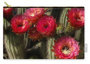 Cactus With Red Flowers Carry-all Pouch