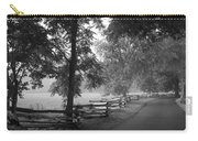 Cades Cove Tennessee In Black And White Carry-all Pouch