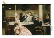 Cafe Scene In Paris Carry-all Pouch by Henri Gervex