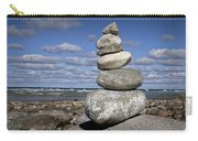 Cairn At North Point On Leelanau Peninsula In Michigan Carry-all Pouch