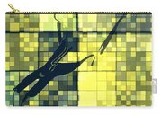 Caliente Geometric Yellow Carry-all Pouch