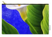 Calla Over Blue Carry-all Pouch