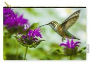 Calliope Hummingbird At Bee Balm Carry-all Pouch