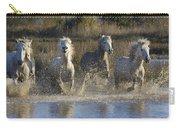 Camargue Horse Equus Caballus Group Carry-all Pouch