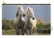 Camargue Horse Equus Caballus Pair Carry-all Pouch