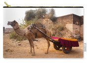 Camel Yoked To A Decorated Cart Meant For Carrying Passengers In India Carry-all Pouch