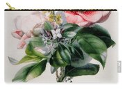 Camellia And Broom Carry-all Pouch by Marie-Anne