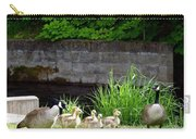 Canada Geese With Goslings Carry-all Pouch