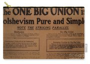 Canada: One Big Union, 1919 Carry-all Pouch