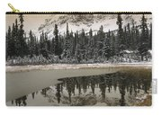 Canadian Rocky Mountains Dusted In Snow Carry-all Pouch by Tim Fitzharris