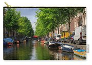 Canal Scene In Amsterdam Carry-all Pouch
