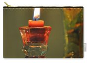 Candle And Colored Glass Carry-all Pouch