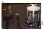 Candle - Live Laugh Love Carry-all Pouch