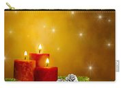 Candles Decorated Branches Of A Pine Tree And Fir Cones Carry-all Pouch