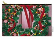 Candy Christmas Wreath Carry-all Pouch