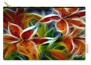 Candy Lily Fractal  Carry-all Pouch by Peter Piatt