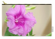 Candy Pink Morning Glory Flower Carry-all Pouch