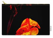 Canna Lilies On Black Carry-all Pouch