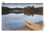 Canoe On A Shore Autumn Nature Scenery Carry-all Pouch