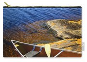 Canoe On Shore Carry-all Pouch by Elena Elisseeva