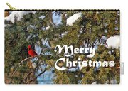 Cardinal Christmas Card Carry-all Pouch