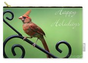 Cardinal Holiday Card Carry-all Pouch