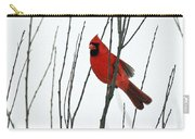 Cardinal In Willow  Carry-all Pouch