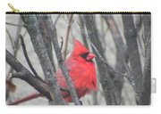 Cardinal With Fluffed Feathers Carry-all Pouch