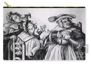 Caricature Of Three Alcoholics, 1773 Carry-all Pouch