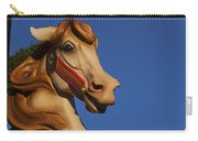 Carousel Horse Against Blue Sky Carry-all Pouch