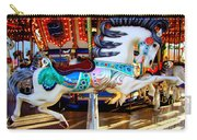 Carousel Horse With Leaves Carry-all Pouch