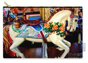 Carousel Horse With Roses Carry-all Pouch